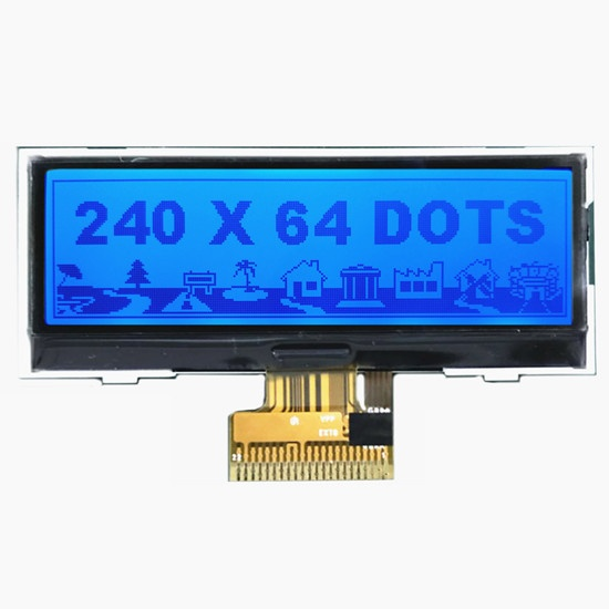 240x64 Pixels Graphic LCD With RGB Backlight