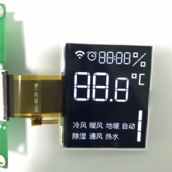 White Character On Black Background BTN LCD Display FPC Connector